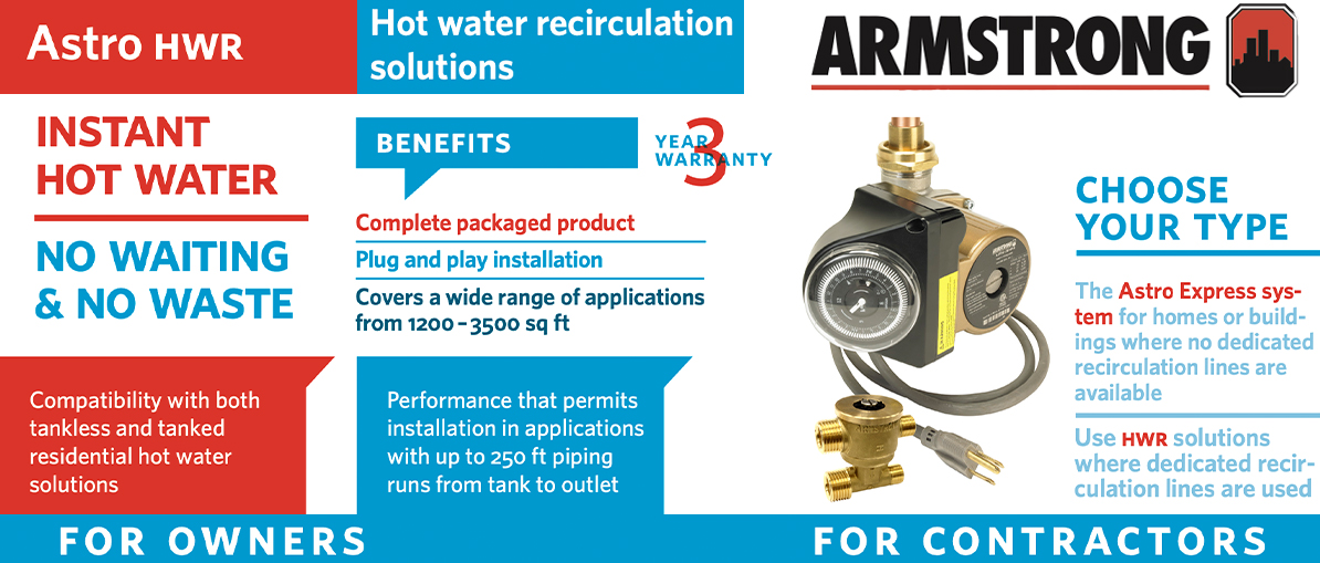 Armstrong Astro Hot Water Re-circulation Pump