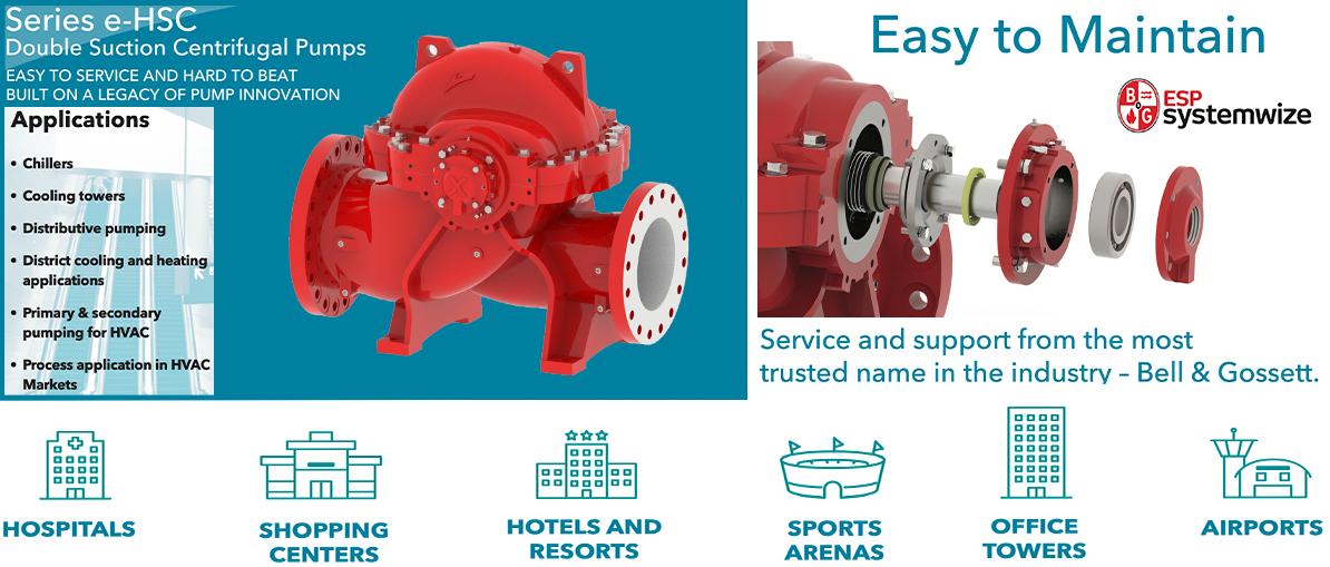 Bell & Gossett series e-HSC series end suction centrifugal pumps