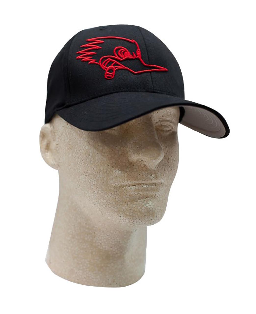 Mr. Horsepower Red Outline FlexFit Black Hat