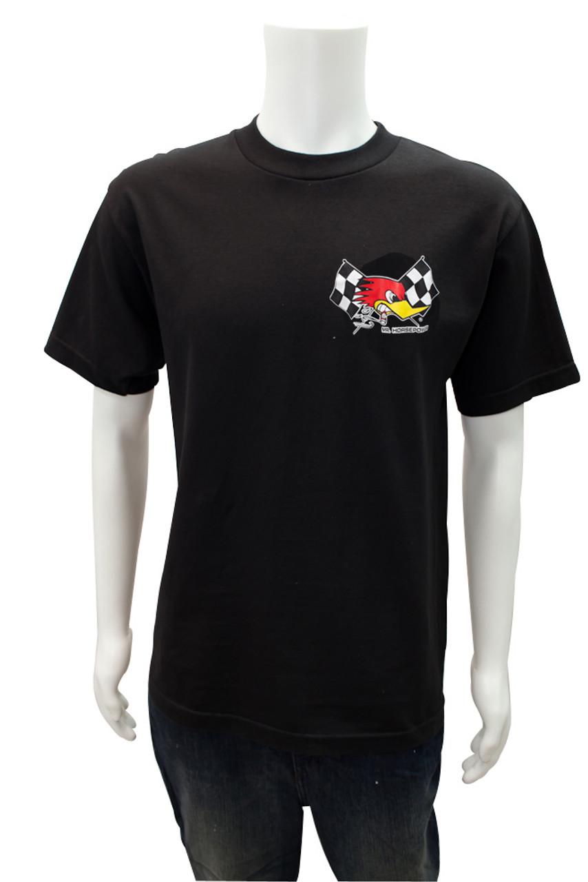 Mr. Horsepower Checkered Flag Black T-Shirt