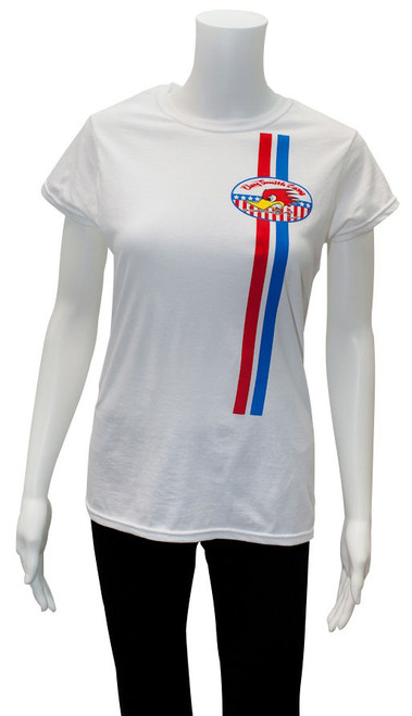 Mr. Horsepower Clay Smith Cams Stars and Stripes White Ladies T-Shirt