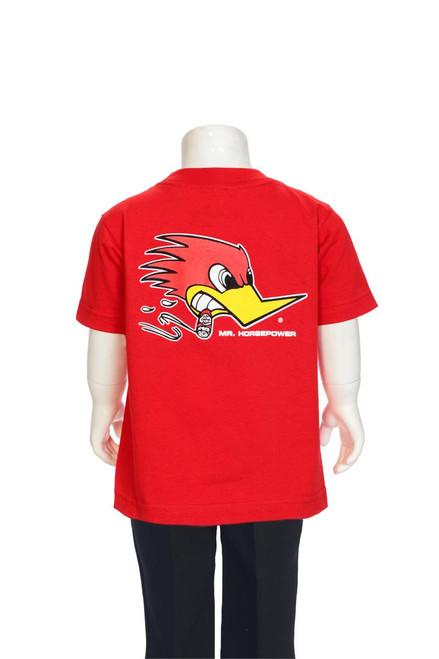 Mr. Horsepower Traditional Design Children's T-Shirt Red