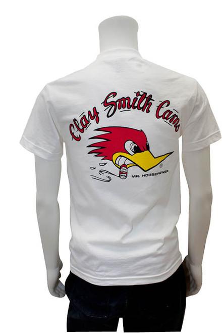 Mr. Horsepower Clay Smith Cams White T-Shirt
