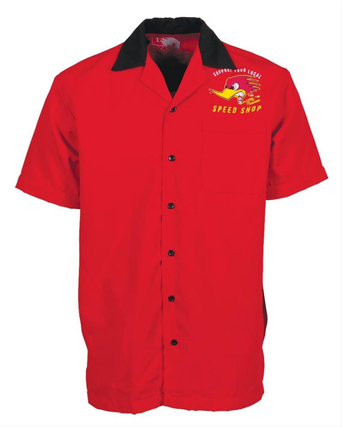 Support Local Speed Shop Bowling Shirt