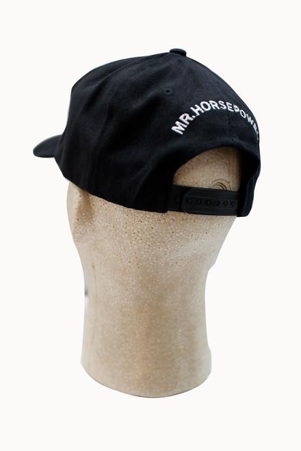 Mr. Horsepower Adjustable Black Sports Hat