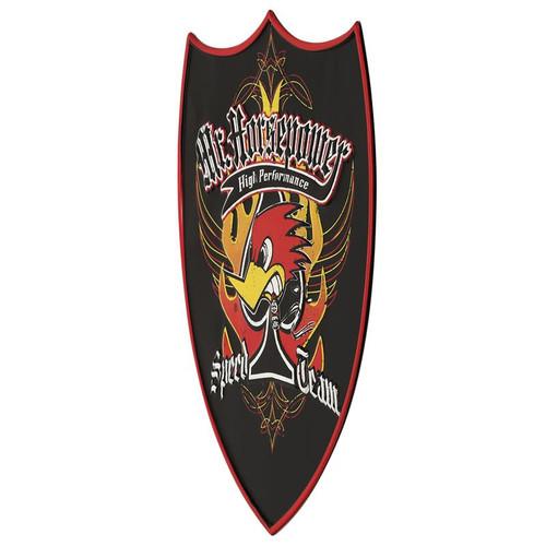 """Mr Horsepower """"Speed Team"""" Embossed Tin Black Sign"""
