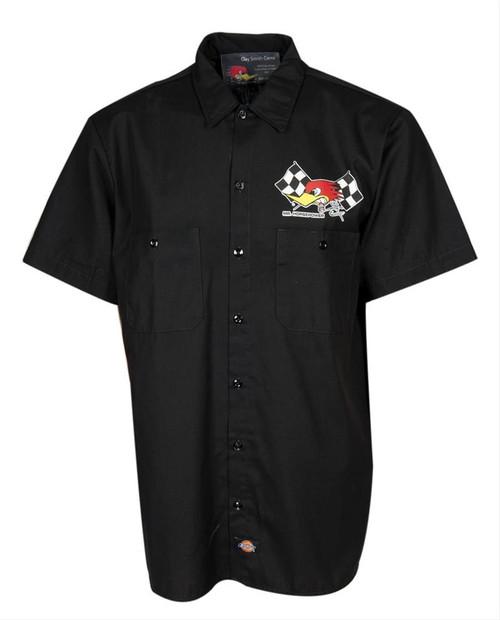 Mr. Horsepower Black Checkered Flag Mechanics Shirt