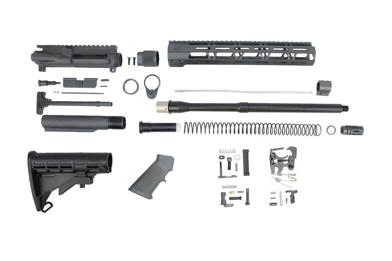 "5.56 Nato 'Operator Series' 16"" Nitride Builder Kit / 1:8 Twist / 12"" MLOK Handguard"