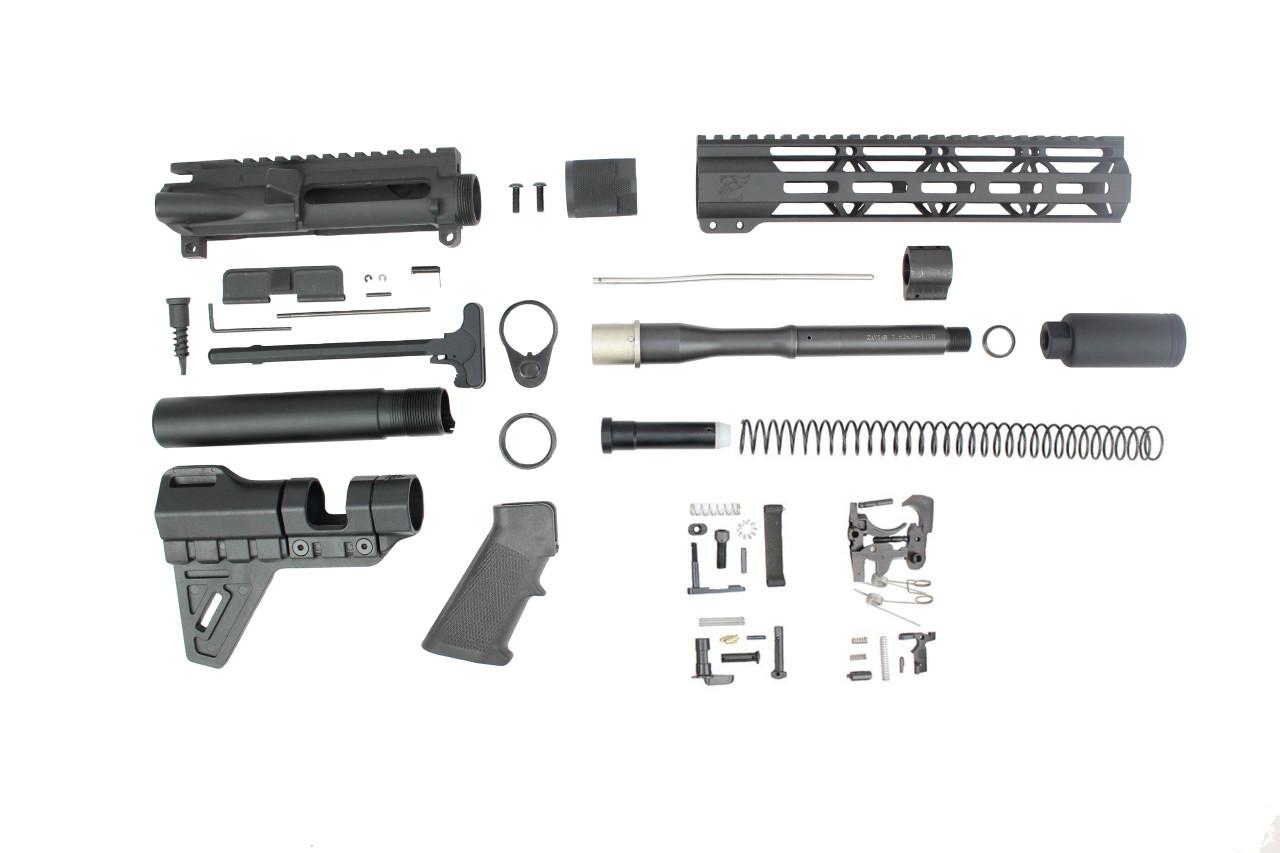 "ZAVIAR AR-47 7.62x39 'Wolverine Series' 7.5"" NITRIDE BUILDER KIT / 10"" MLOK HANDGUARD"