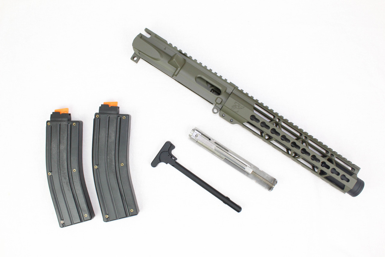 "Z22 'Spitfire Trainer' .22LR Assembled Upper Receiver MAGPUL OD GREEN | 9"" .22LR Barrel 