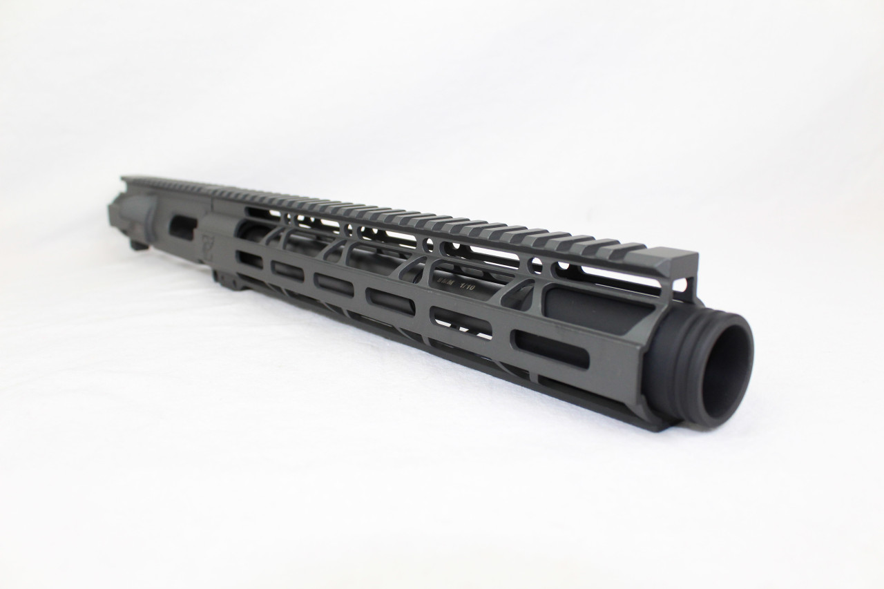 "Z9 'Stinger PDW' 9mm Assembled Upper Receiver SNIPER GREY | 9.5""-10.5"" Barrel | 12"" M-LOK Handguard | Zaviar Flash Can Muzzle Device"