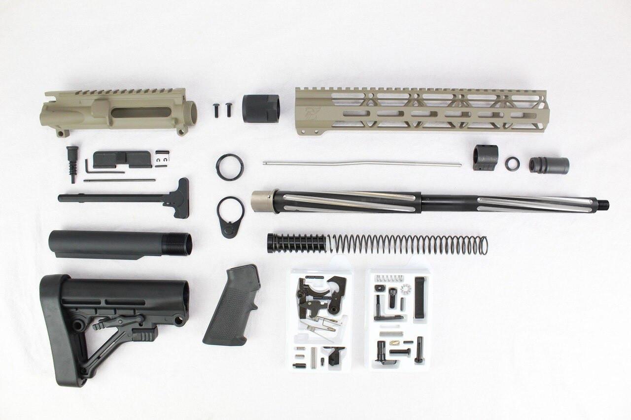 "7.62 x 39 'Wolverine Series' Magpul FDE 16"" Bear Claw Builder Kit / 1:10 Twist / 12"" MLOK Handgaurd"