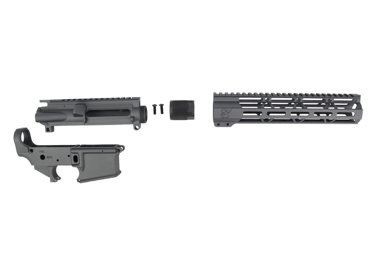 "Sniper Grey CERAKOTE SET - UPPER RECEIVER / STRIPPED LOWER RECEIVER / 10"" MLOK HANDGUARD"