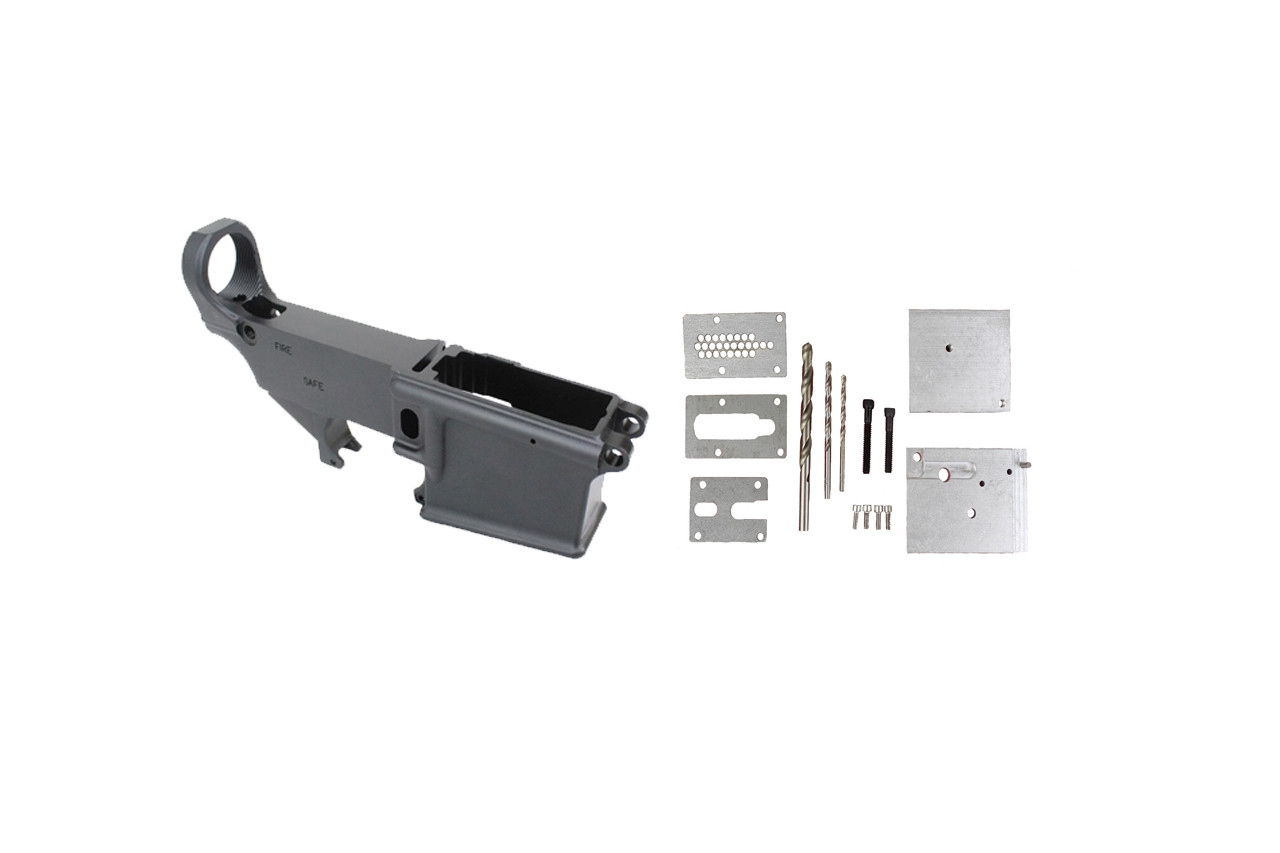 80% Lower Receiver AR15 FORGED 7075-T6 BLACK ANODIZED / 80% Lower Jig Kit Combo