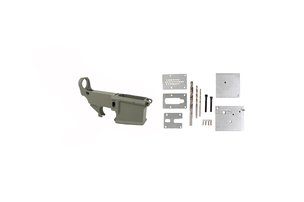 Magpul OD Green 80% Lower Receiver AR15 Forged 7075-T6 / 80% Lower Jig Kit Combo