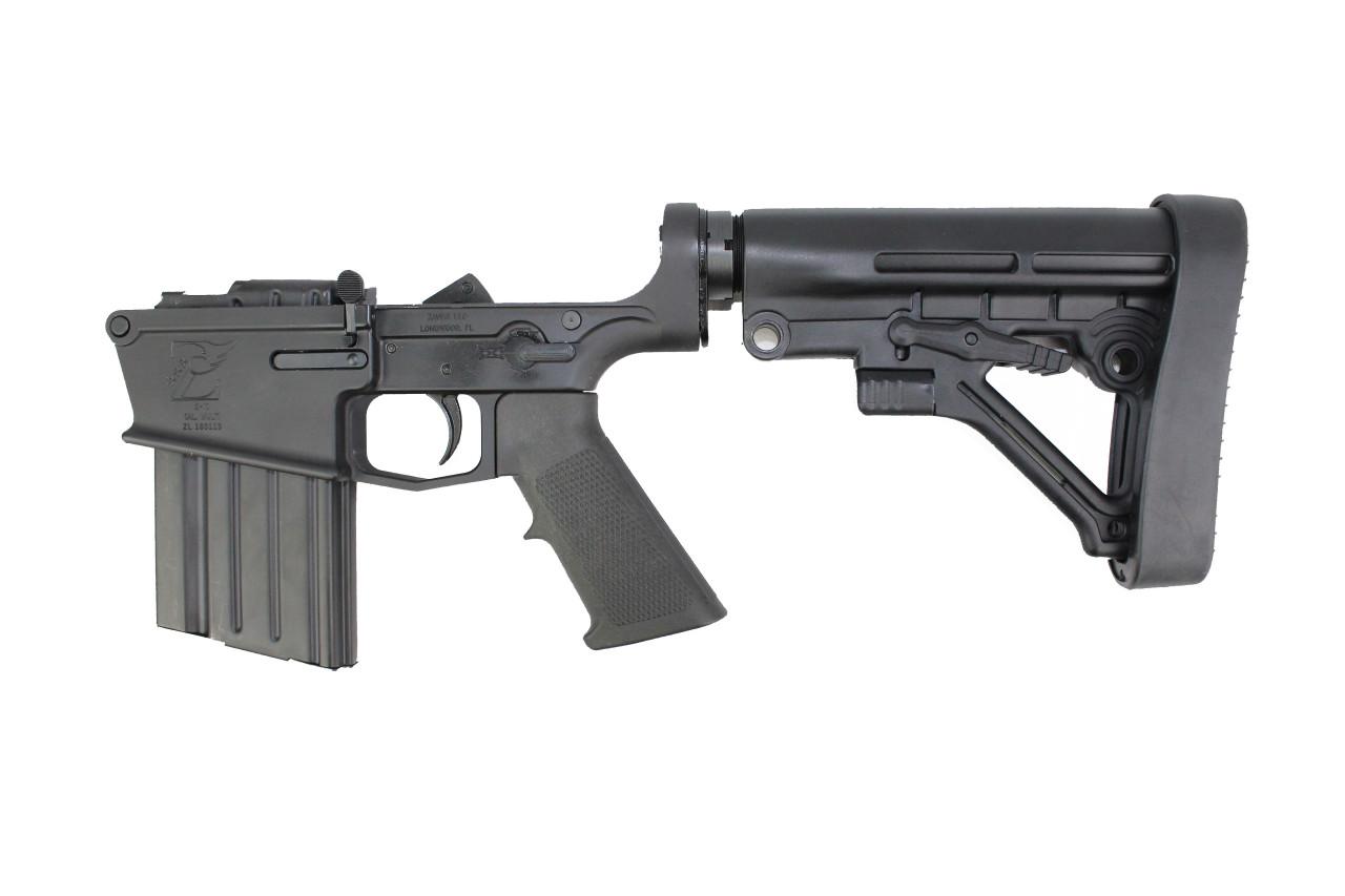 AR-10 Black Cerakote Complete Lower Receiver with Predator Stock / 20rd Magazine