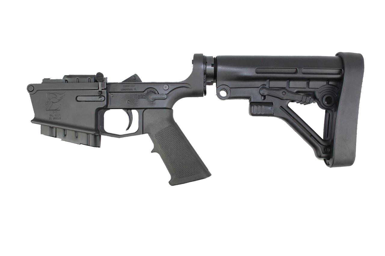 AR-10 Black Cerakote Complete Lower Receiver with Predator Stock / 5rd Magazine