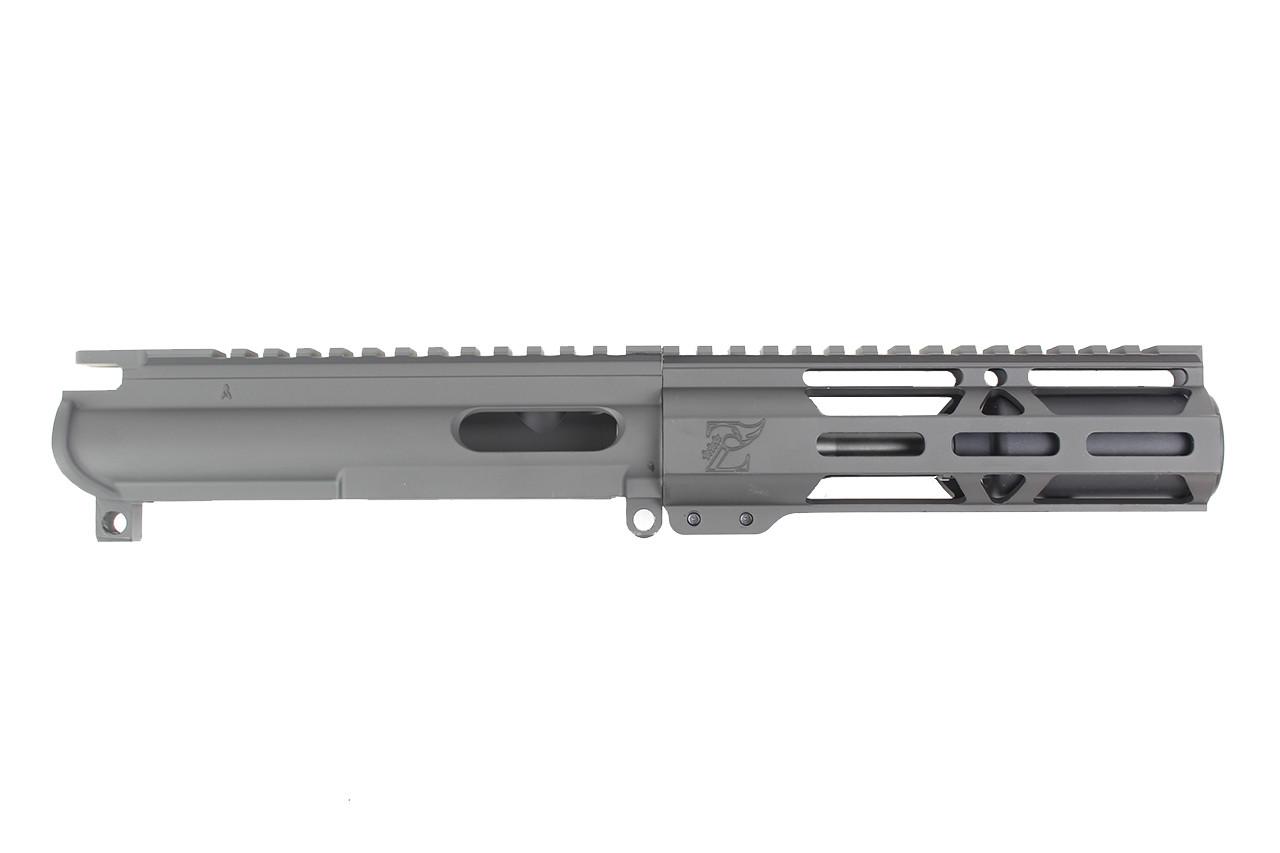 "9mm 'Stinger Series' 3.5"" - 4.5"" Overall Nitride Upper Receiver / 1:10 Twist / 6.5"" MLOK Handguard"