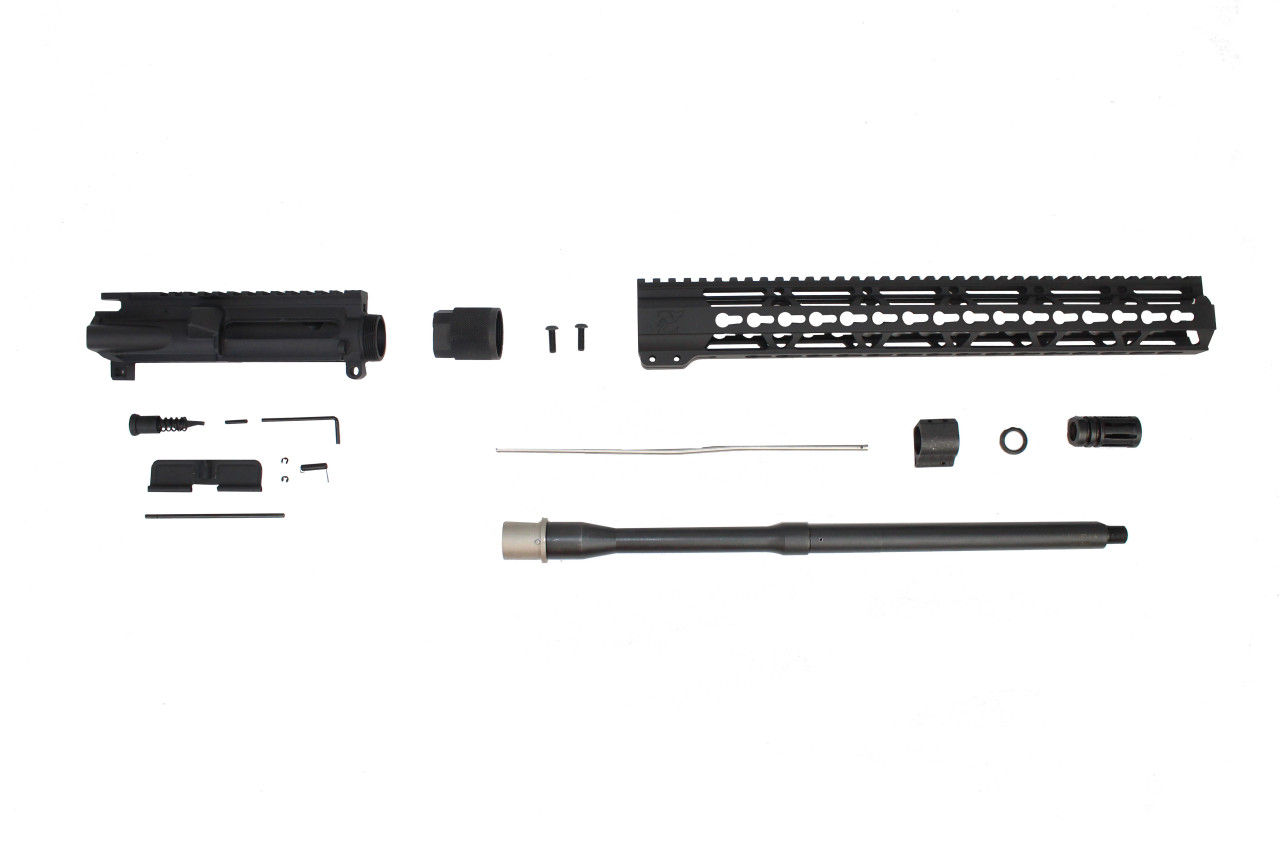 "5.56 Nato 'Operator Series' 16"" Nitride Government Upper Kit / 1:8 Twist / 15"" KeyMod Handguard"