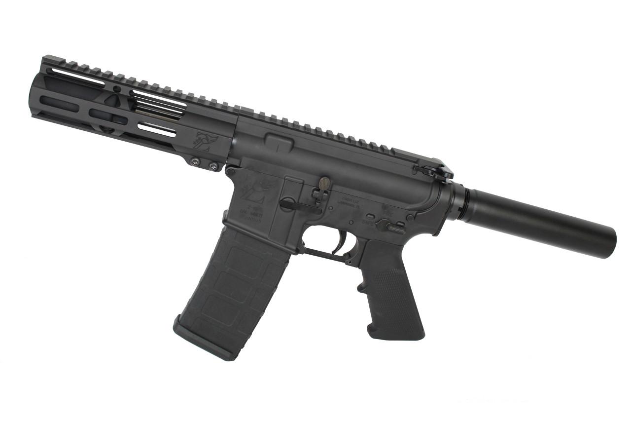 "9mm 'Stinger Series' 3.5""- 4.5"" Stainless Steel Complete Pistol / 1:10 Twist / 6.5"" MLOK Handguard"