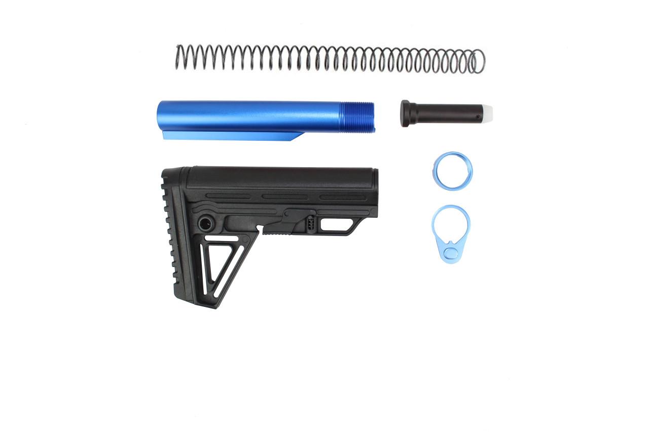 Zaviar BS-5 Alpha 6 Position Adjustable Stock Kit with Blue Tube