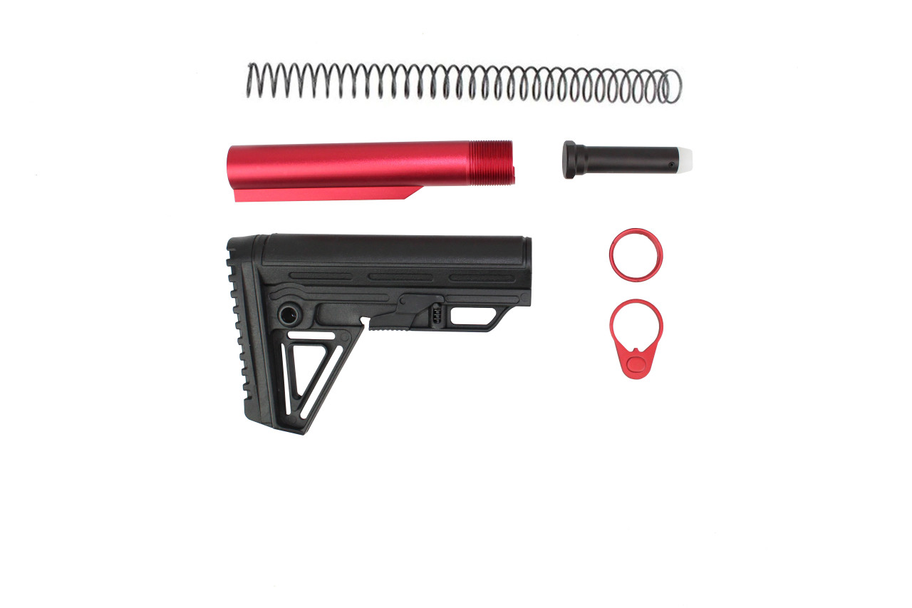 Zaviar BS-5 Alpha 6 Position Adjustable Stock Kit with Red Tube