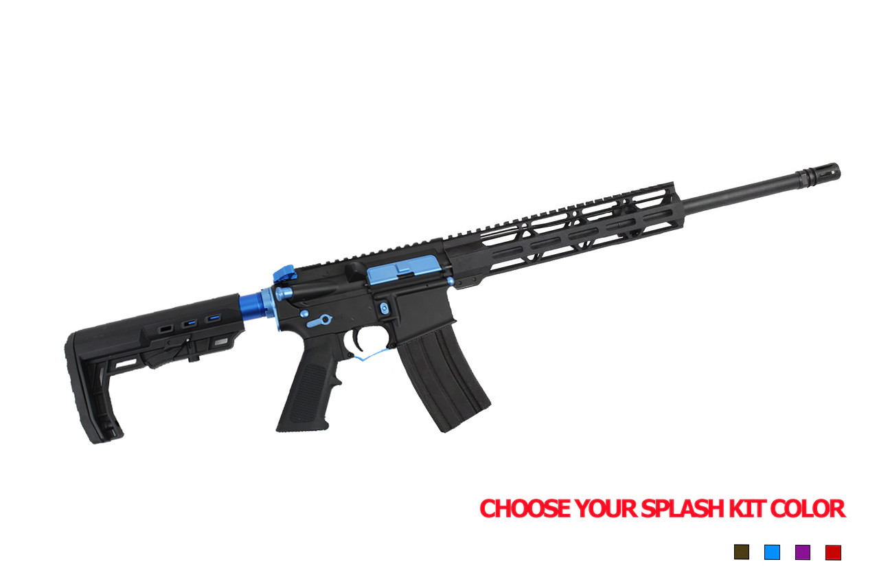 "5.56 Nato 'Operator Series' 16"" Government Complete Rifle / 1:8 Twist / 10"" MLOK Handguard / Splash Kit Color Option"