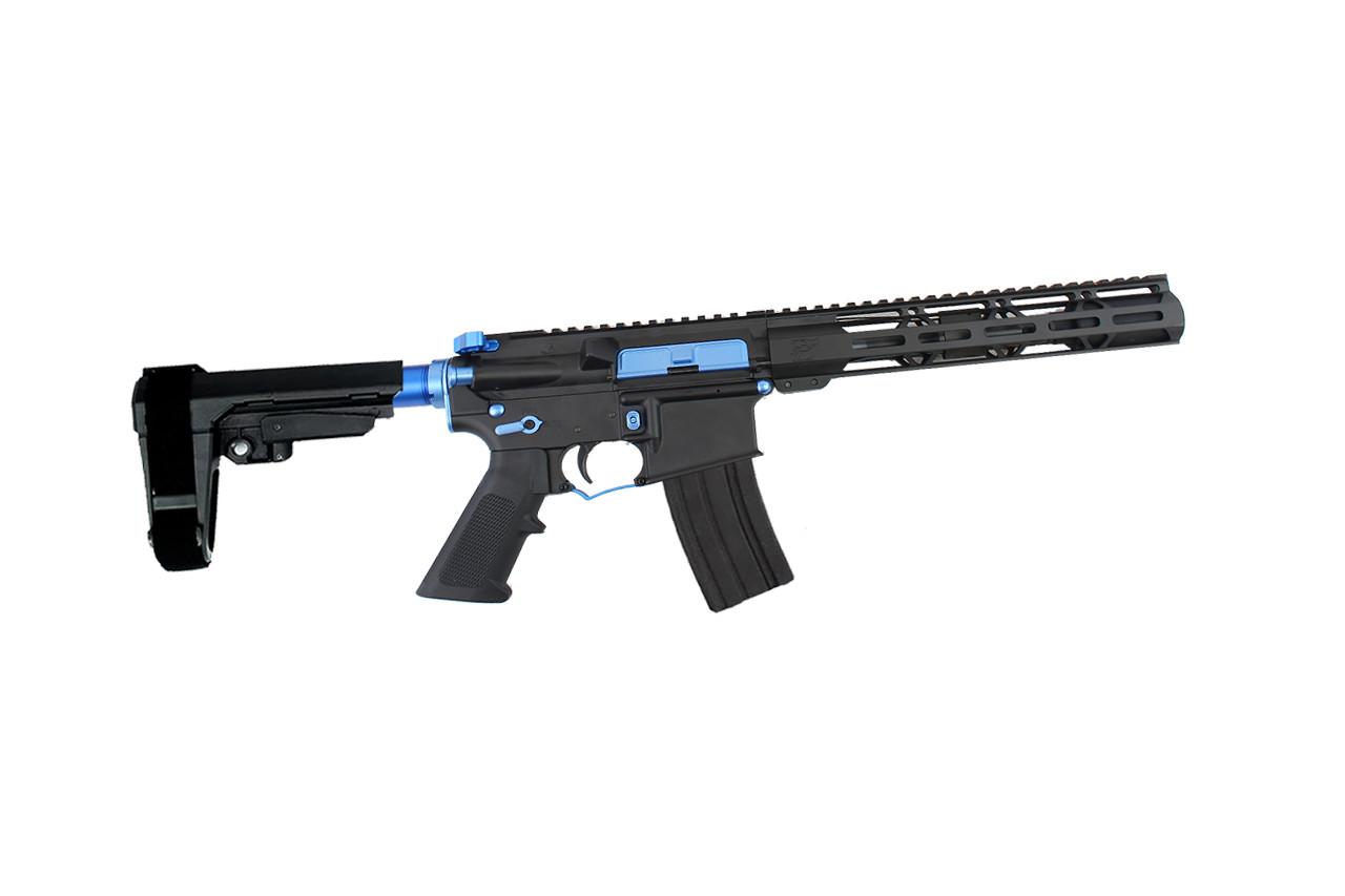 "Zaviar Firearms 5.56 Nato 'Operator Series' 7.5"" Nitride Complete Pistol / 1:7 Twist / SBA3 Brace / 10"" Mlok Handguard / Splash Kit"