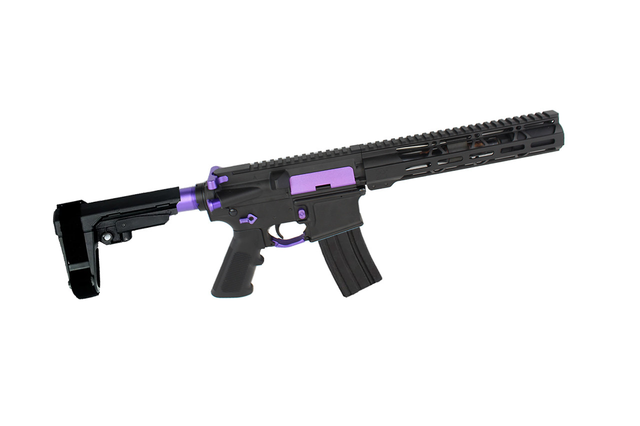 "5.56 Nato 'Operator Series' 7.5"" Nitride Complete Pistol / 1:7 Twist / SBA3 Brace / 10"" Handguard"