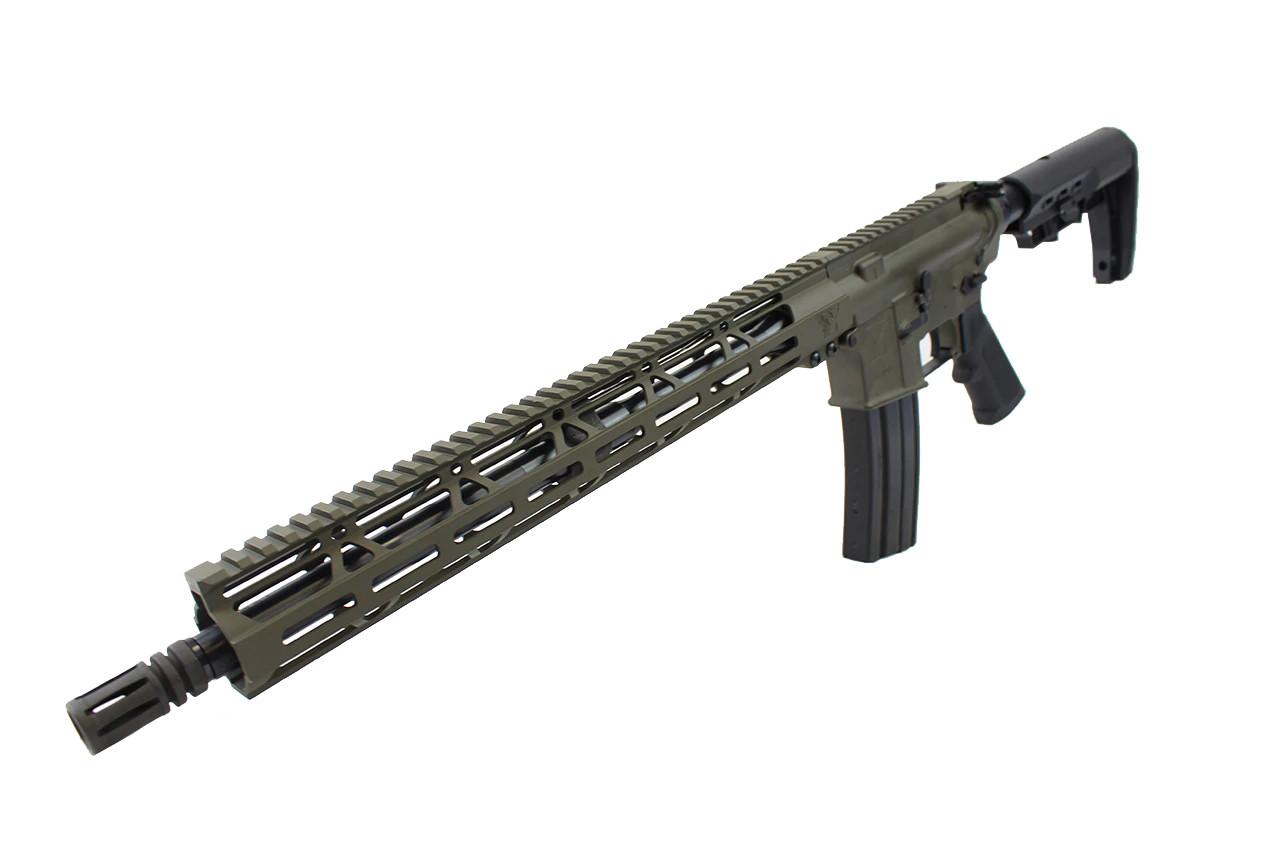 "5.56 Nato 'Operator Series' 16"" Government Complete Rifle / 1:8 Twist / 15"" MLOK Handguard / OD green"