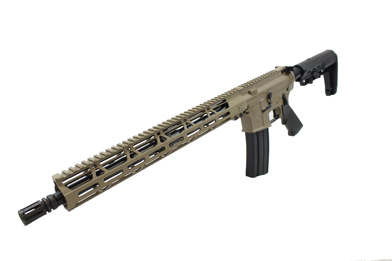"5.56 Nato 'Operator Series' 16"" Government Complete Rifle / 1:8 Twist / 15"" MLOK Handguard / FDE"