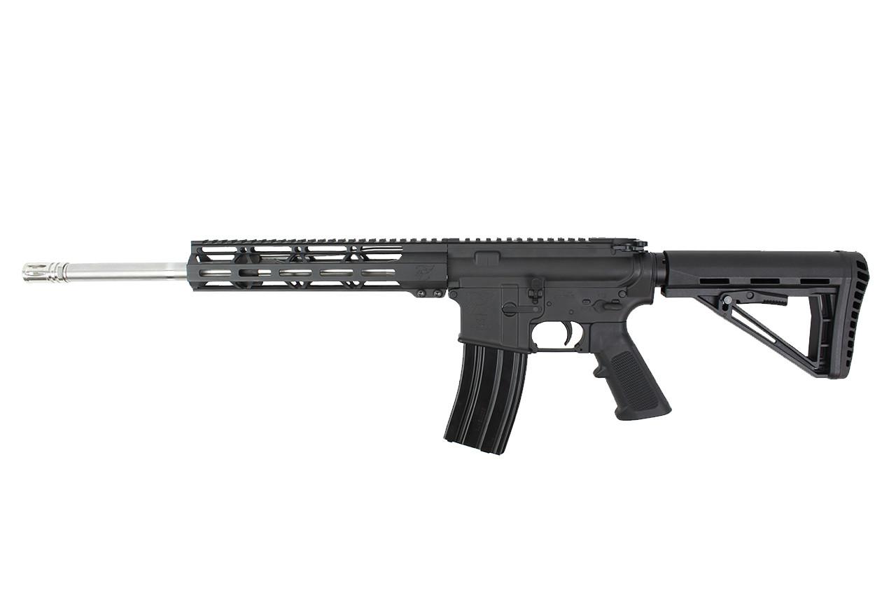 "5.56 NATO 16""  'Operator Series' Stainless steel Complete Rifle / 1:8 Twist / 10""Mlok  Handguard / SS Flash Hider"