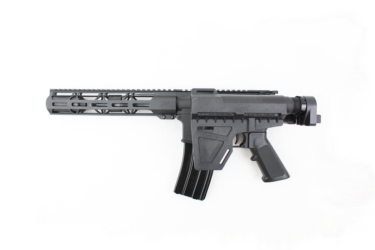 "5.56 Nato 'Operator Series' 7.5"" Complete Pistol / 1:7 Twist / 10"" MLOK Handguard / Kak Blade with Foldable Adapter"