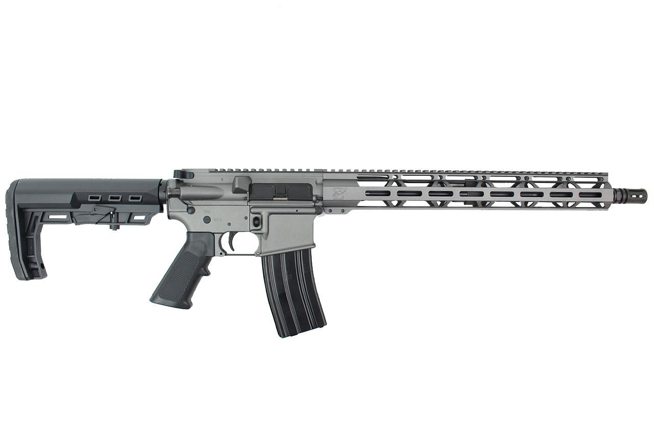 "5.56 Nato 'Operator Series' 16"" Government Complete Rifle / 1:8 Twist / 15"" MLOK Handguard / Tungsten Grey"