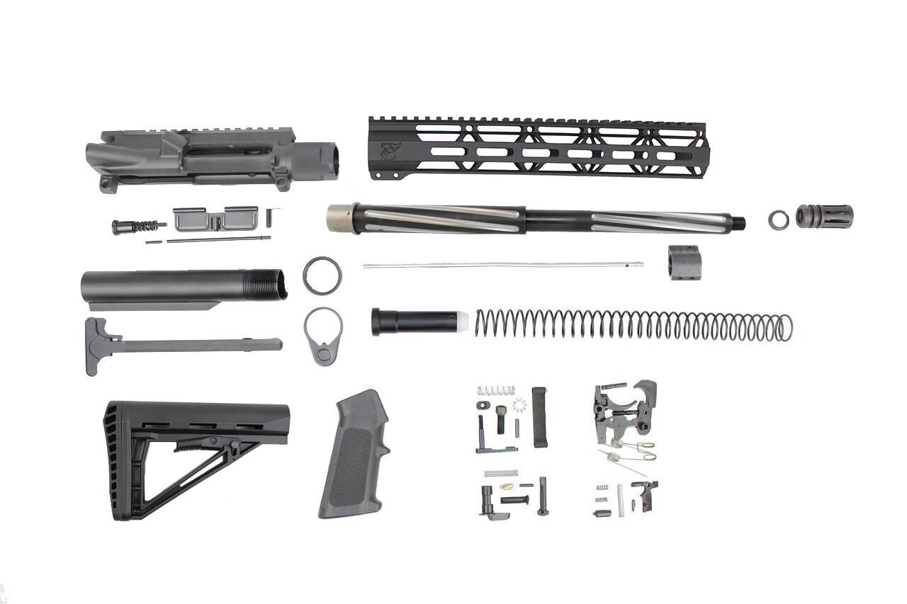 ".223 Wylde 'Operator Series' 16"" Bear Claw Fluted Builder Kit / 1:8 Twist / 12"" MLOK Handguard"