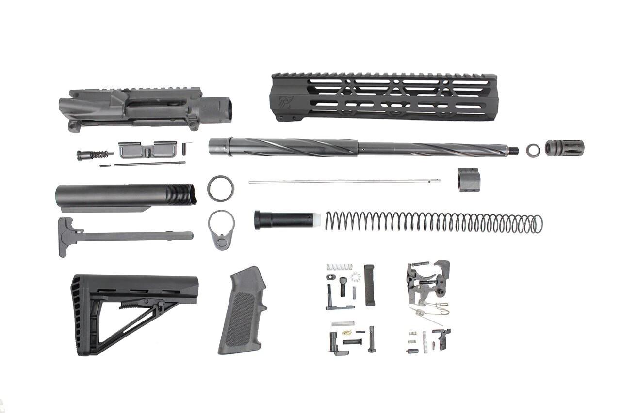 ".223 Wylde 'Operator Series' 16"" Twisted Fluted Builder Kit / 1:8 Twist / 10"" MLOK Handguard (Z70890)"