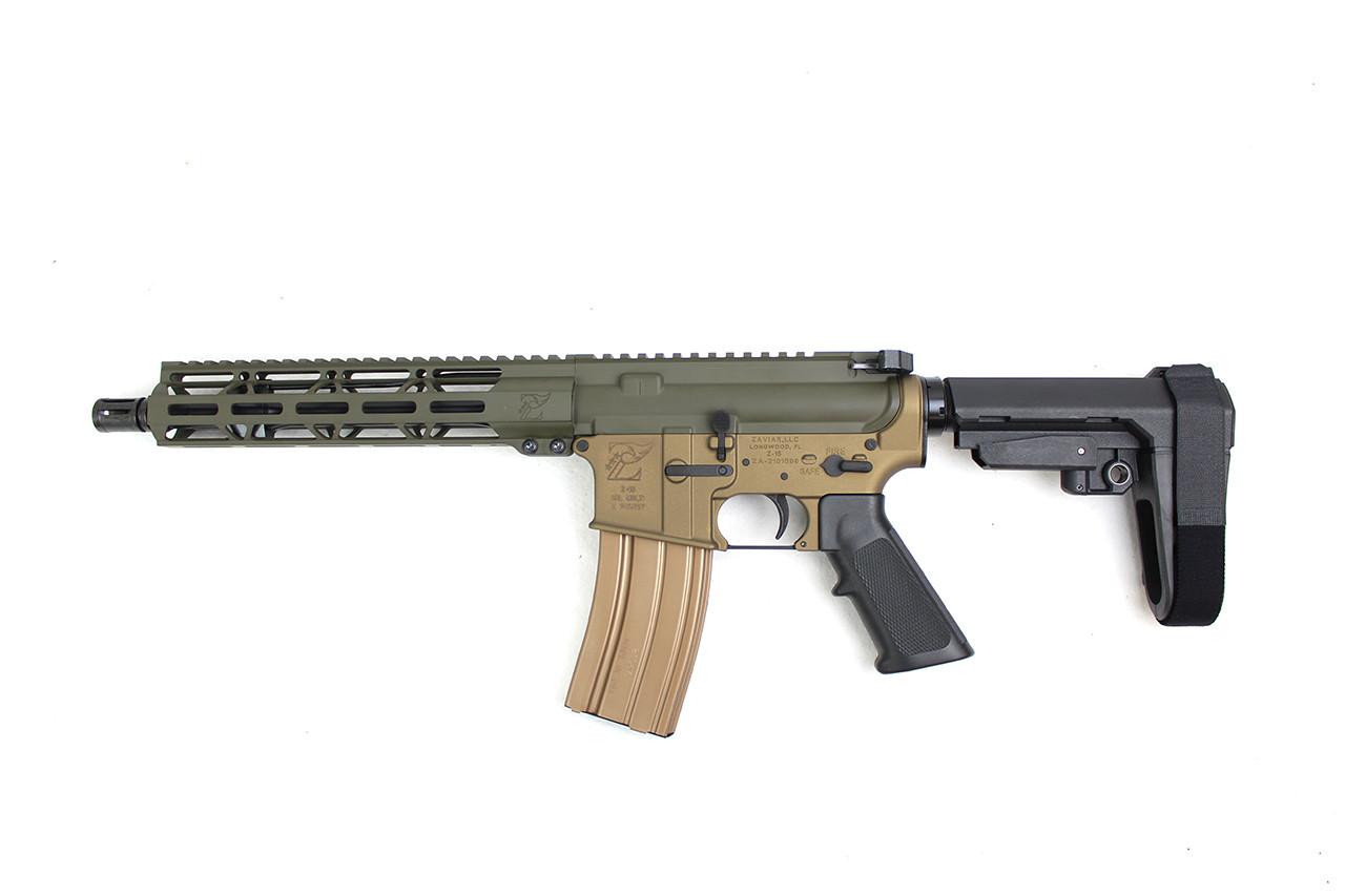 "Forest Edition Zaviar Firearms 5.56 Nato 'Operator Series' 10.5"" Complete Pistol / 1:7 Twist / 10"" MLOK Handguard"