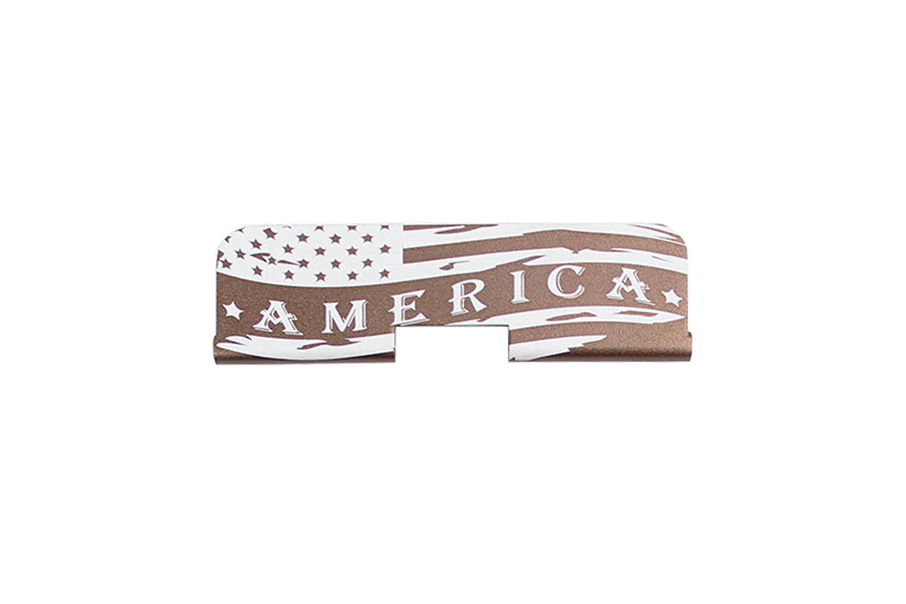 "Zaviar Firearms ""America"" AR-15 Upper Receiver Dust Cover Bronze"