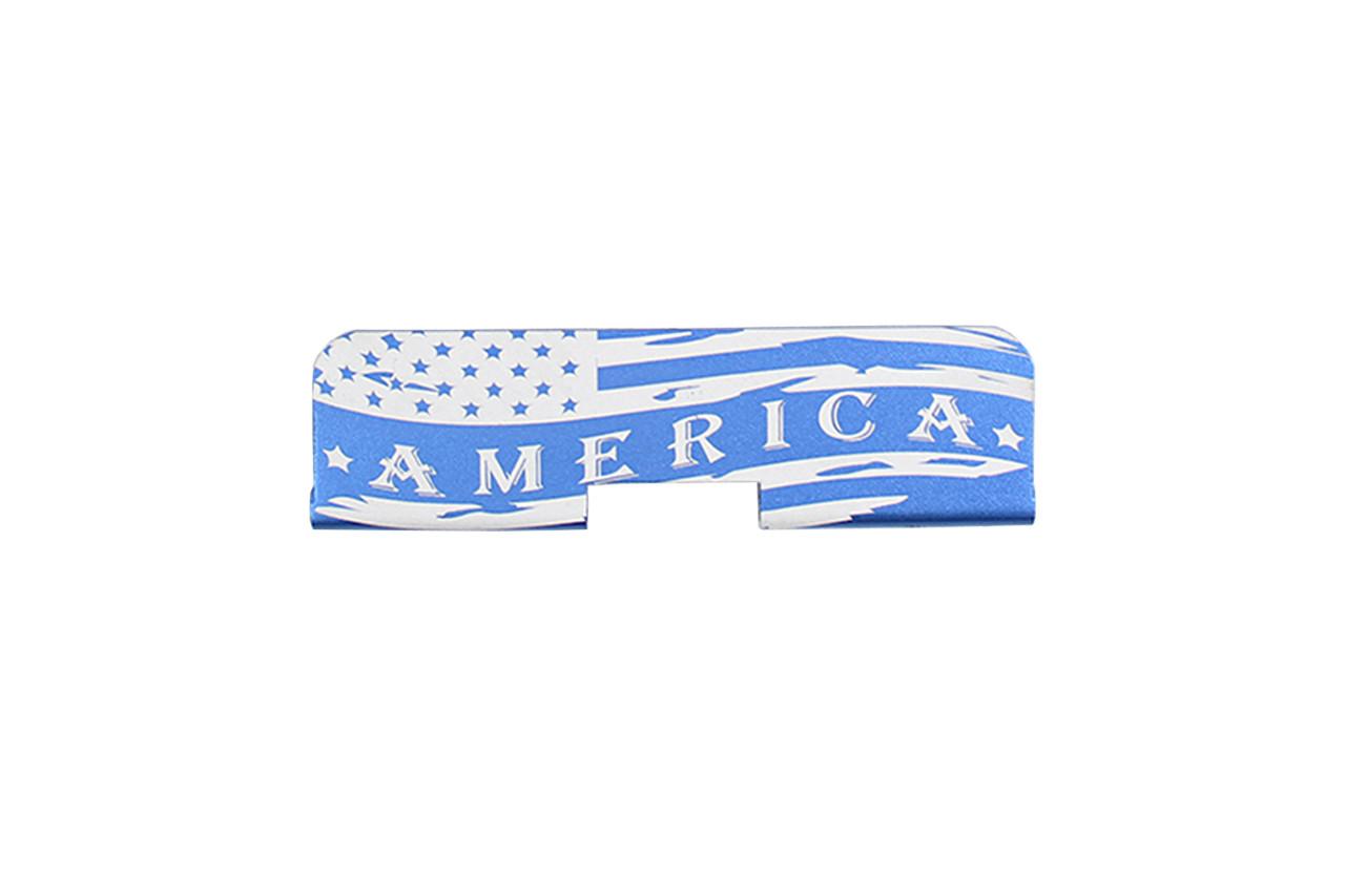 "Zaviar Firearms ""America"" AR-15 Upper Receiver Dust Cover Blue"