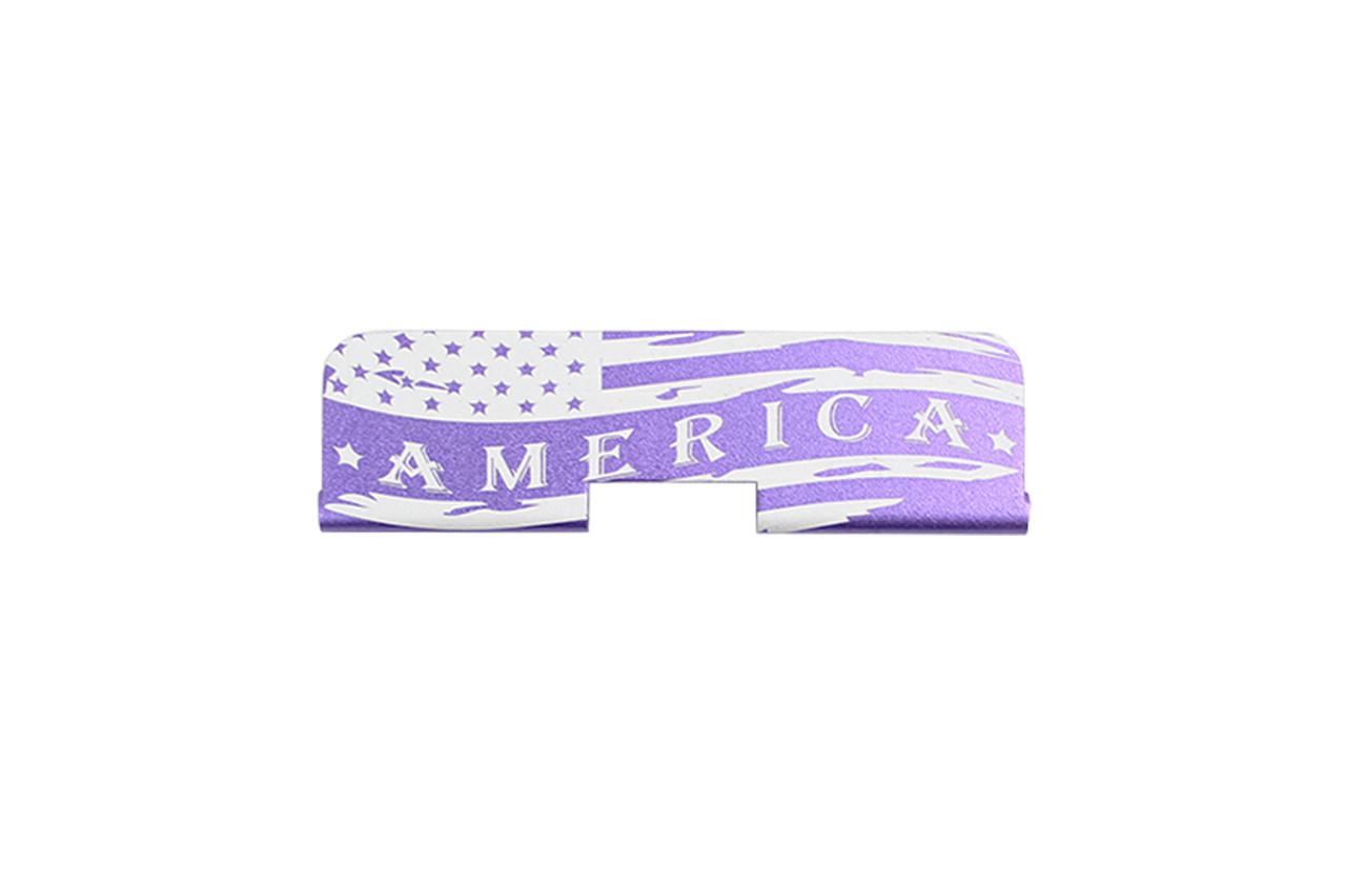 "Zaviar Firearms ""America"" AR-15 Upper Receiver Dust Cover Purple"