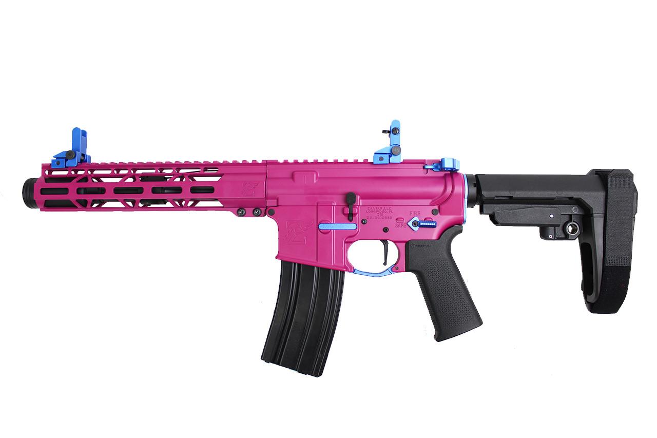 "Zaviar Firearms 5.56 NATO 'Operator Series ' 7.5"" Nitride Complete Pistol / 1:8 Twist / 10"" MLOK Handguard / Flash Can / SBA3"