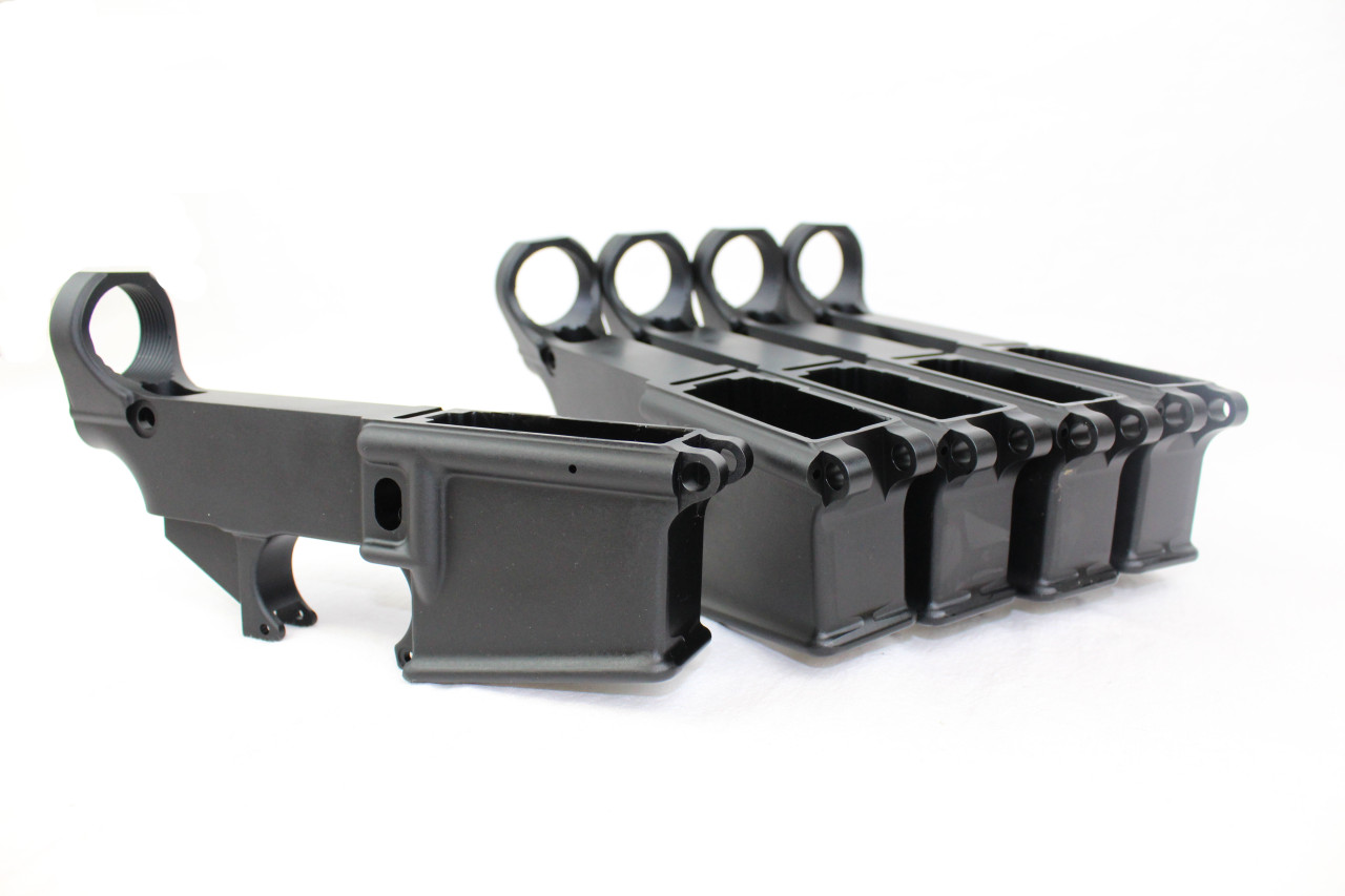80% Lower Receiver AR15 BULK 5 PACK BLACK ANODIZED