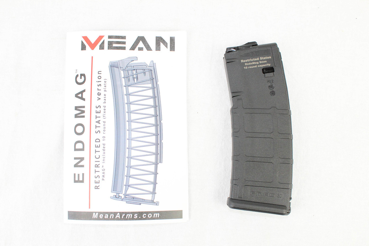 *RESTRICTED STATES* MEAN EndoMag™ 10 RD PMAG Magazine 9MM ADAPTER