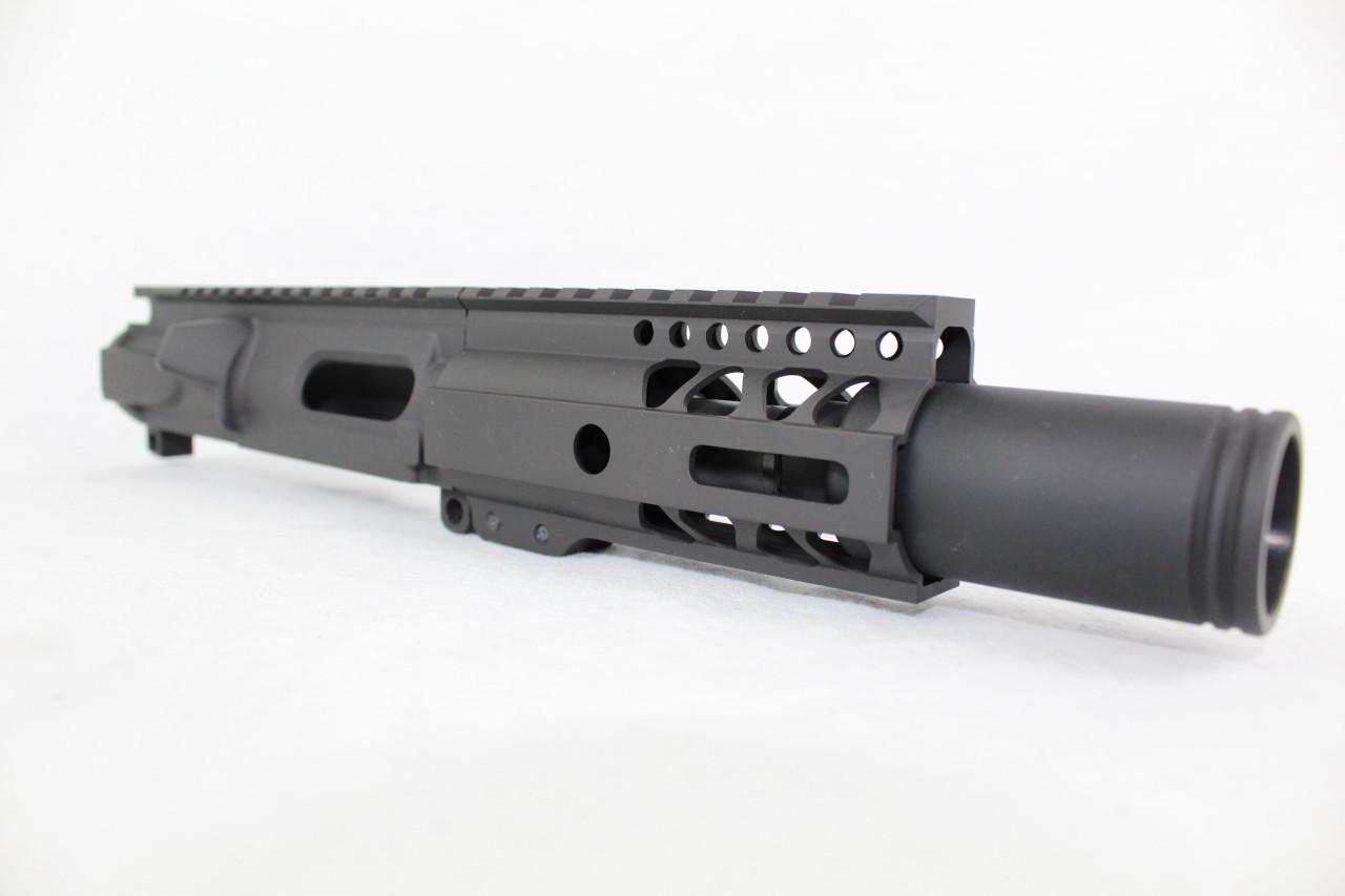 "Z9 'Stinger PDW' 9mm Assembled Upper Receiver | 3.5"" Barrel | 4.5"" M-LOK Handguard | Zaviar Flash Can Muzzle Device"