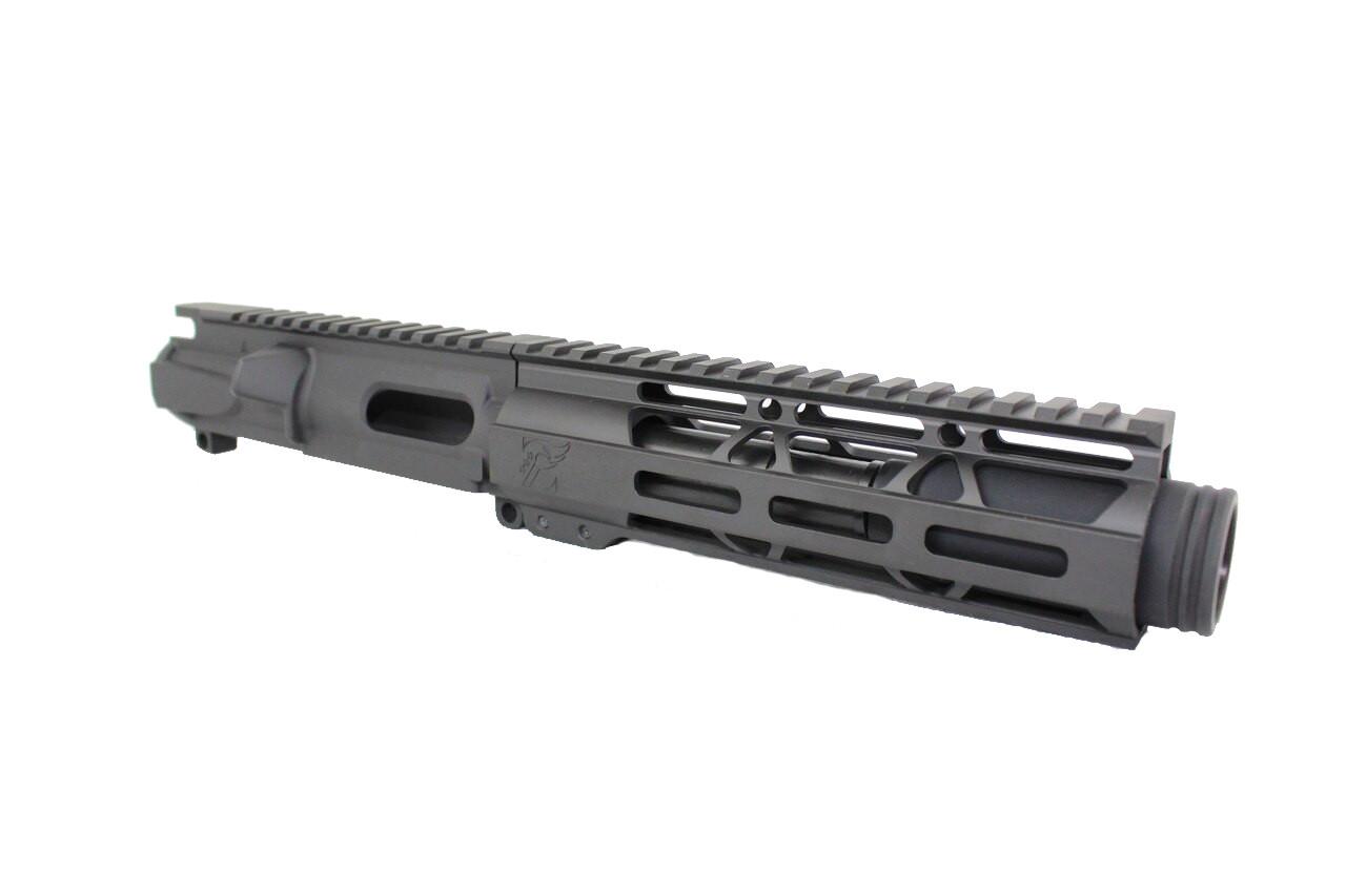 "Z9 'Stinger PDW' 9mm Assembled Upper Receiver | 4.5"" Barrel | 7"" M-LOK Handguard | Zaviar Flash Can Muzzle Device"