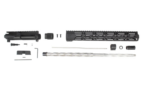 ".223 Wylde 'Operator Series' 24"" Stainless Steel Spiral Fluted Upper Kit / 1:8 Twist / 15"" MLOK Handguard"