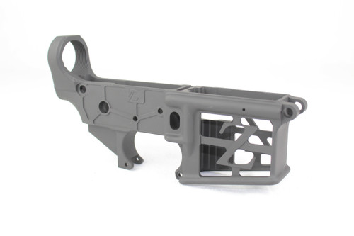 ZAVIAR BLACK CERAKOTED SKELETONIZED MIL-SPEC AR15 Stripped Lower Receiver