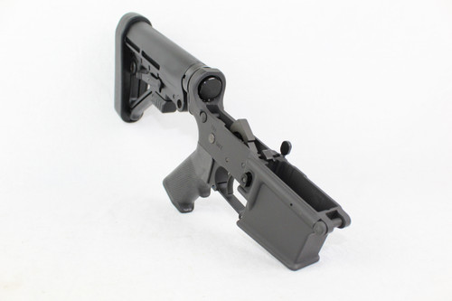 ZAVIAR BLACK CERAKOTED COMPLETE STRIPPED LOWER RECEIVER WITH PREDATOR STOCK