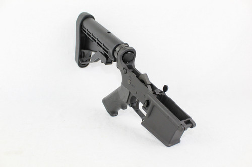 ZAVIAR BLACK CERAKOTED COMPLETE STRIPPED LOWER RECEIVER WITH LE STOCK