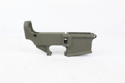 ZAVIAR OD GREEN CERAKOTED FORGED 80% LOWER RECEIVER